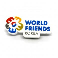 world friends 고무뱃지