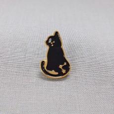검은 고양이-금도금 칠 뱃지
