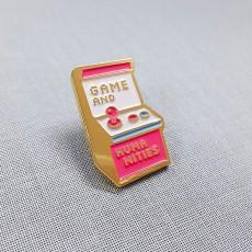 게임기-금도금 칠 뱃지