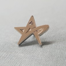 별-니켈도금 샌딩+큐빅 뱃지